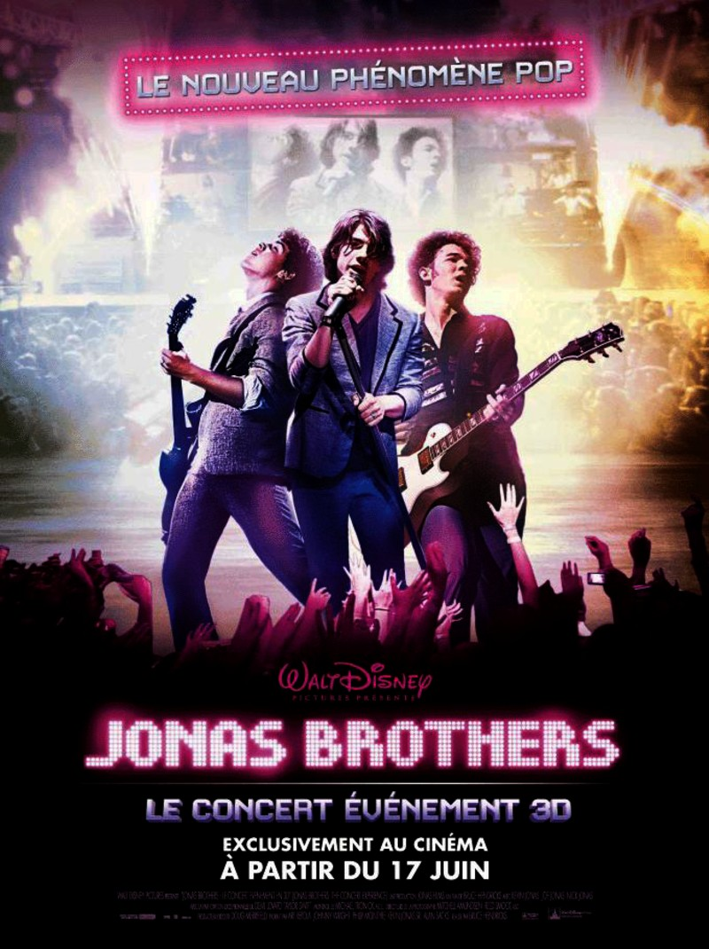 walt disney company walt disney pictures affiche jonas brothers 3d concert experience poster