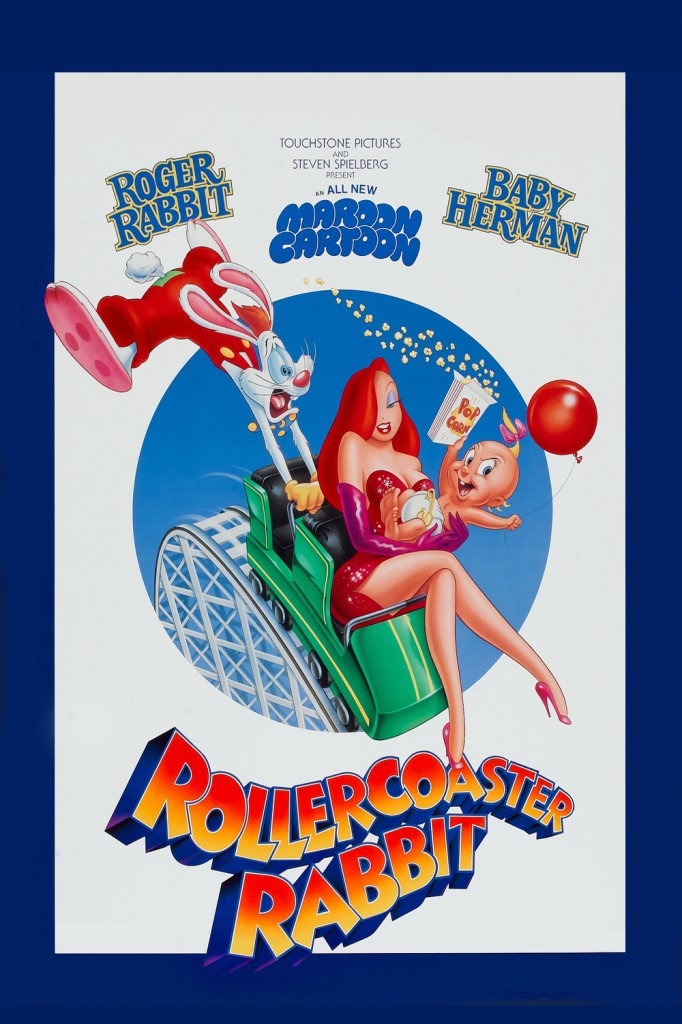 Walt roger rabbit Disney pictures affiche poster lapin looping roller coaster rabbit