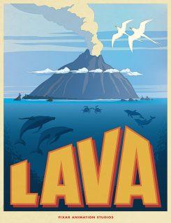 affiche poster lava disney pixar