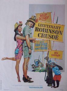 walt disney company walt disney pictures affiche lieutenant robinson-crusoe poster lt robin crusoe usn