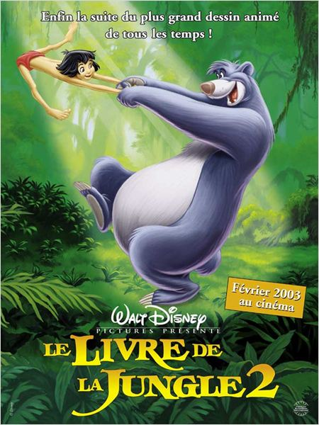 walt disney animation disneytoon studios affiche livre jungle 2 poster jungle book 2