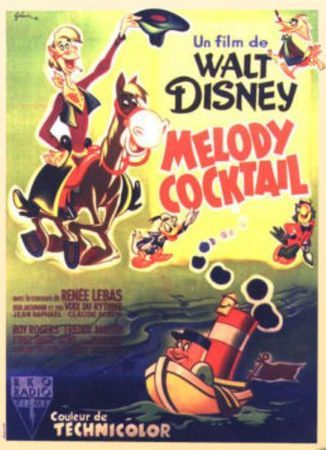 walt disney animation affiche melodie cocktail poster melody time