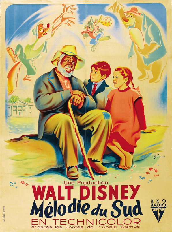 walt disney production affiche melodie sud poster song of the south