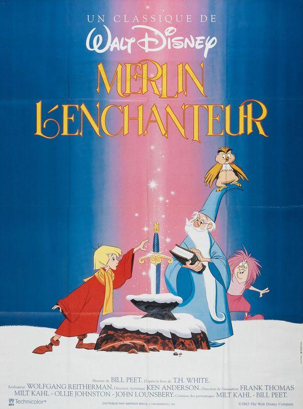 walt disney animation affiche merlin enchanteur poster sword in stone
