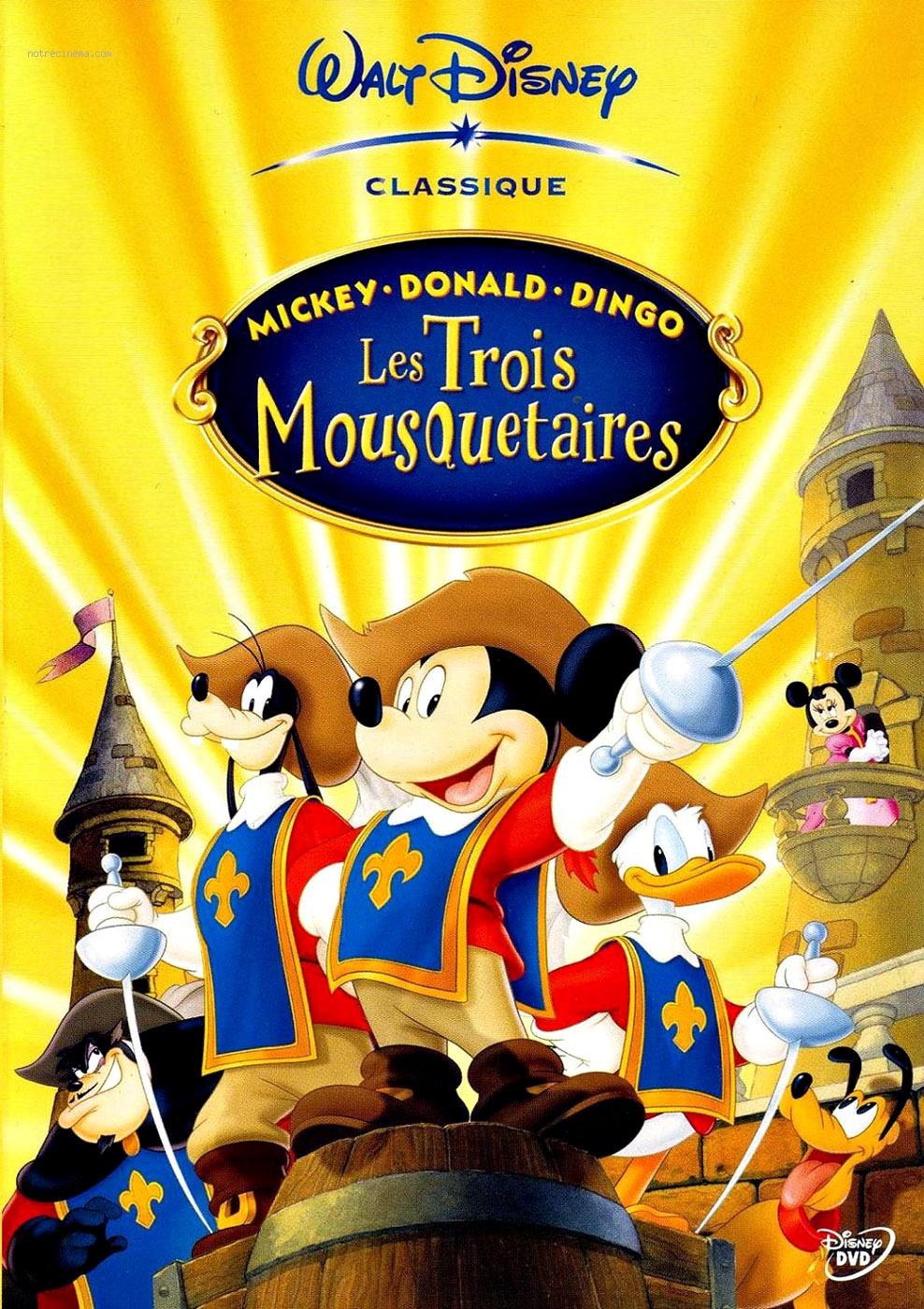 Mickey donald dingo les trois mousquetaires disney - Mickey les 3 mousquetaires ...