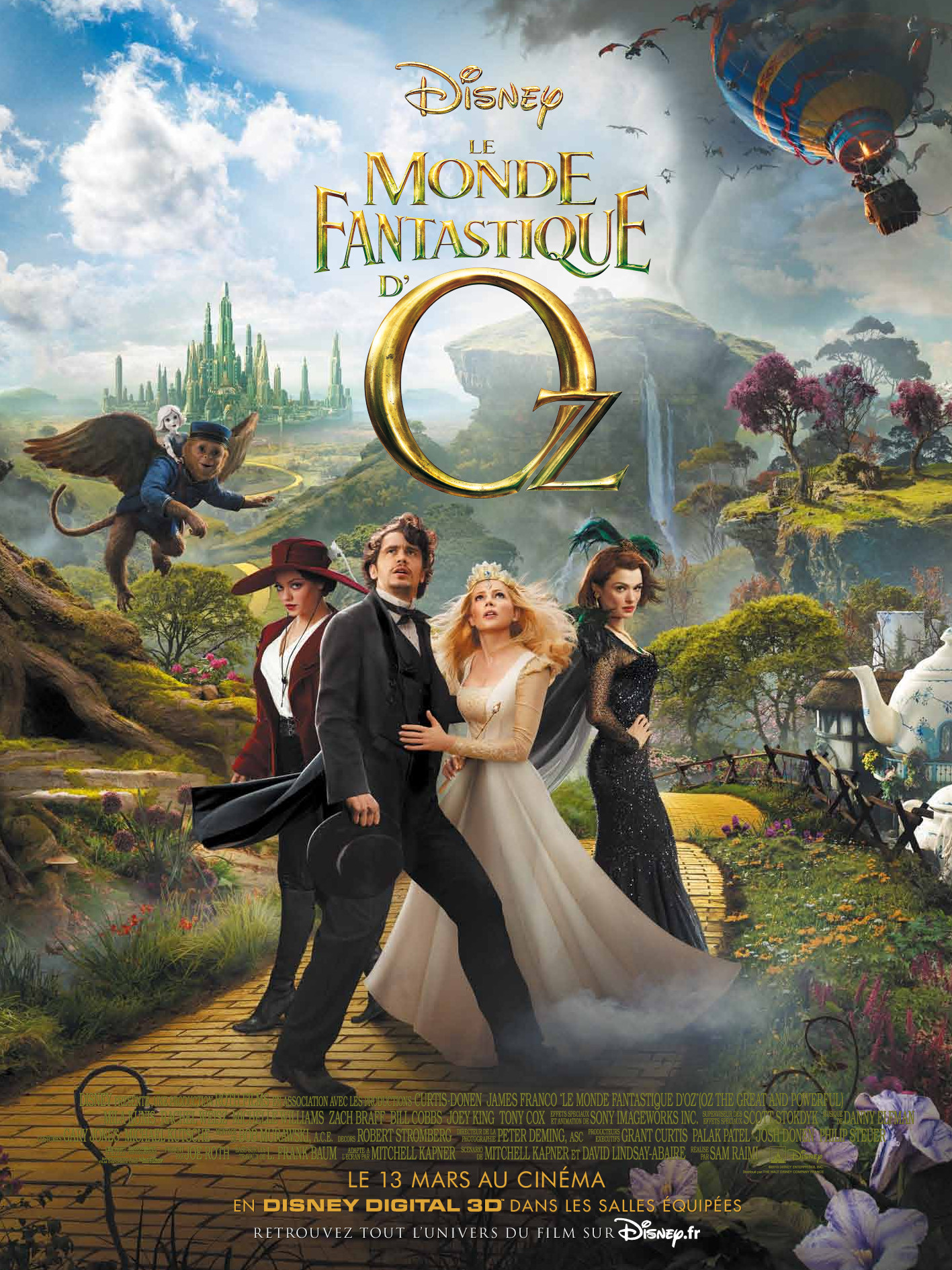 walt disney company walt disney pictures affiche monde fantastique oz poster oz great owerful