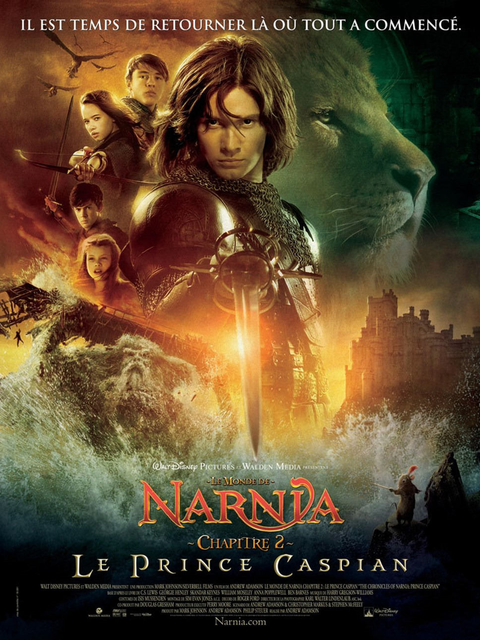 walt disney company walt disney pictures affiche monde narnia prince caspian poster chronicles narnia prince caspian