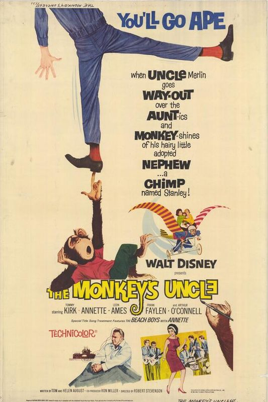 walt disney company walt disney pictures affiche neveu studieux poster monkey uncle