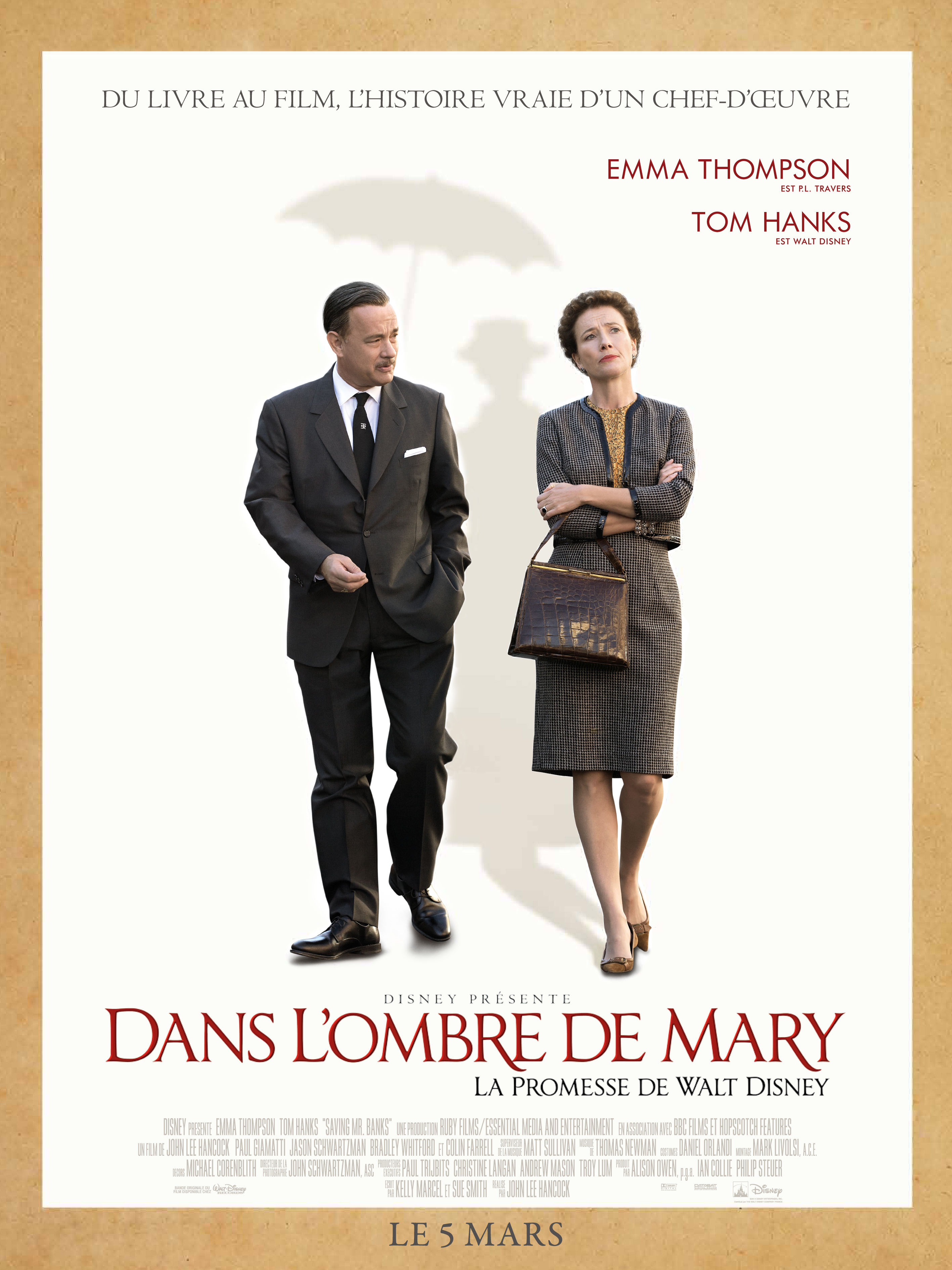 walt disney company walt disney pictures affiche ombre mary poster saving mister banks