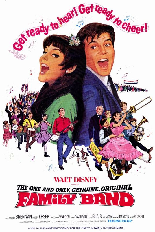 walt disney company walt disney pictures affiche one only genuine original family band poster