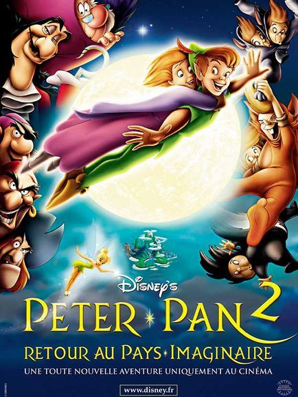 walt disney animation disneytoon studios affiche peter pan 2 retour pays imaginaire poster return to neverland