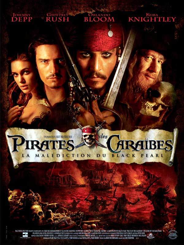 walt disney company walt disney pictures affiche pirates caraibes malediction black pearl poster pirates caribbean curse of black pearl