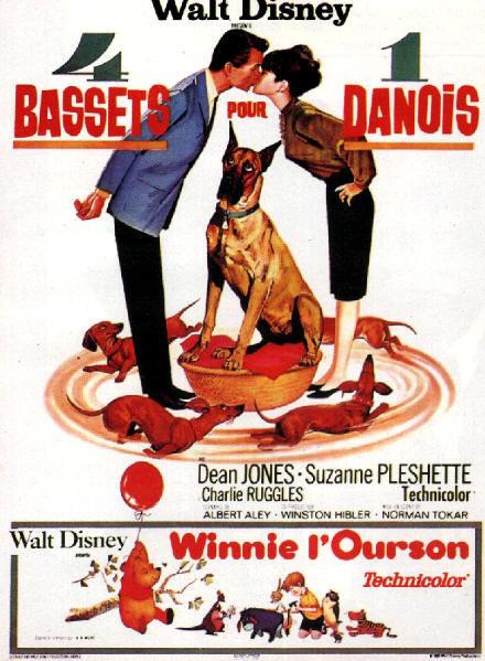 walt disney company walt disney pictures affiche quatre bassets un danois poster ugly dachshunt