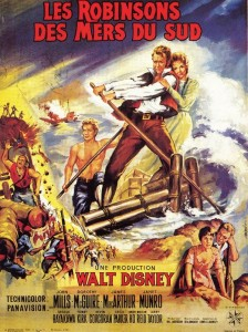 walt disney company walt disney pictures affiche robinsons mers sud poster swiss family robinson