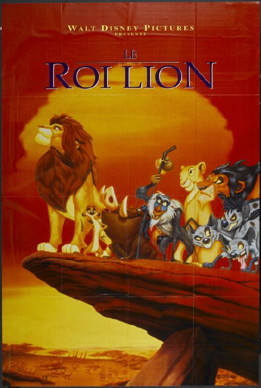 walt disney animation affiche roi lion poster lion king