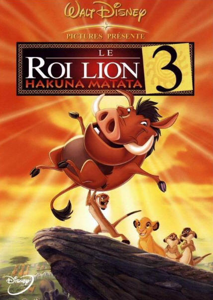 walt disney animation disneytoon studios affiche roi lion 3 hakuna matata poster lion king 1 1/2