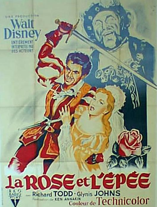 walt disney company walt disney pictures affiche rose epee poster sword rose
