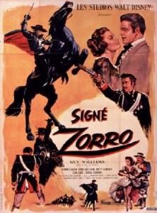 walt disney company walt disney pictures affiche signe zorro poster sign zorro