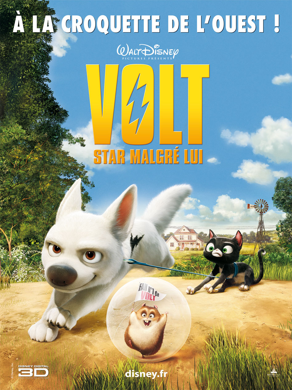 walt disney animation affiche volt star malgre lui poster bolt