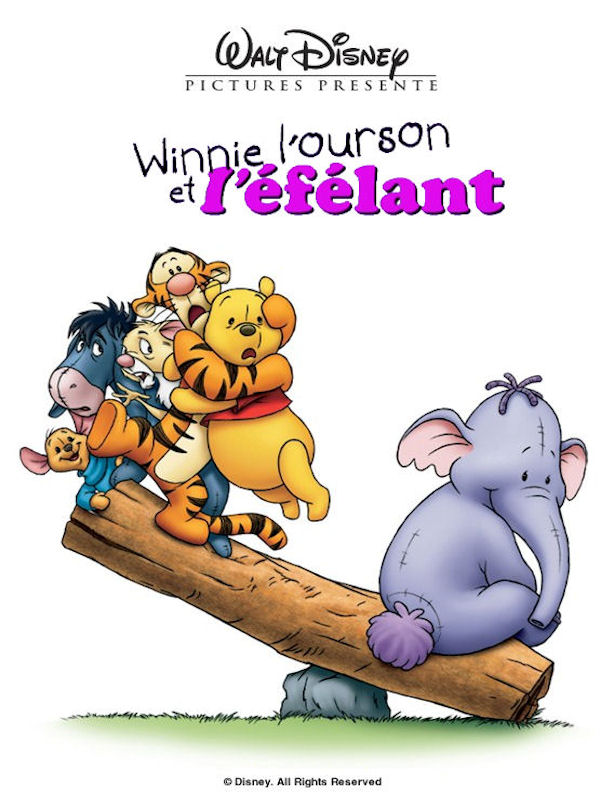 walt disney animation disneytoon studios affiche winnie ourson efelant poster pooh heffalump movie