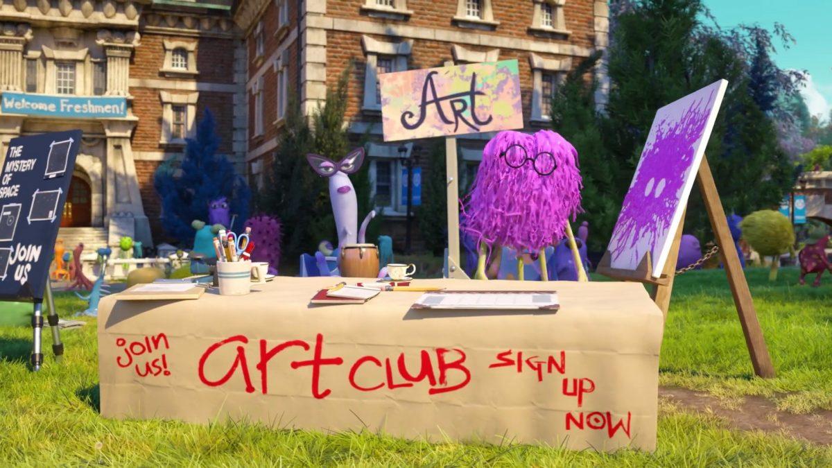 art club personnage character monstres academy monsters university disney pixar