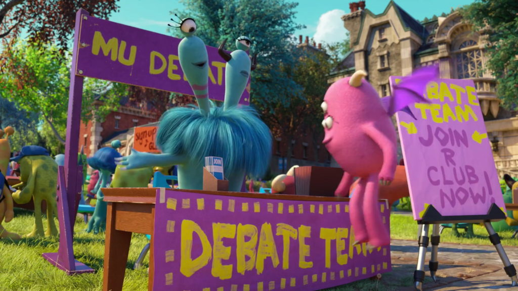 club debat  personnage character monstres academy monsters university