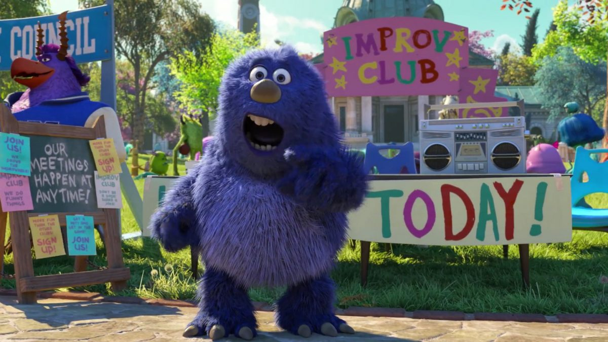 club improvisation personnage character monstres academy monsters university disney pixar
