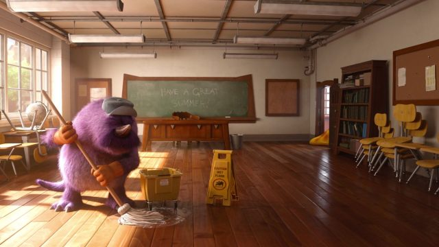 concierge janitor personnage character monstres academy monsters university disney pixar