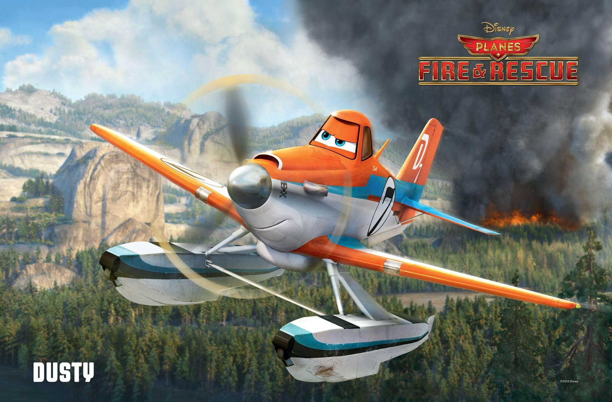 Pixar Disney Dusty planes2  mission canadair