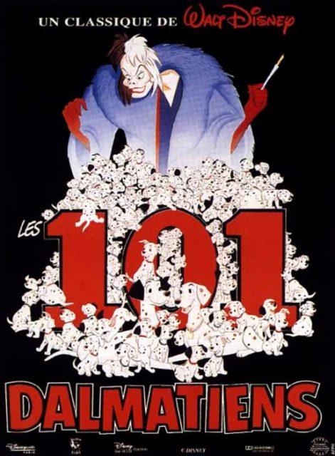 Affiche Les 101 dalmatiens Disney Poster One hundred one dalmatians