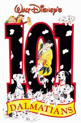 Affiche Les 101 dalmatiens Disney Poster One hundred one dalmatians
