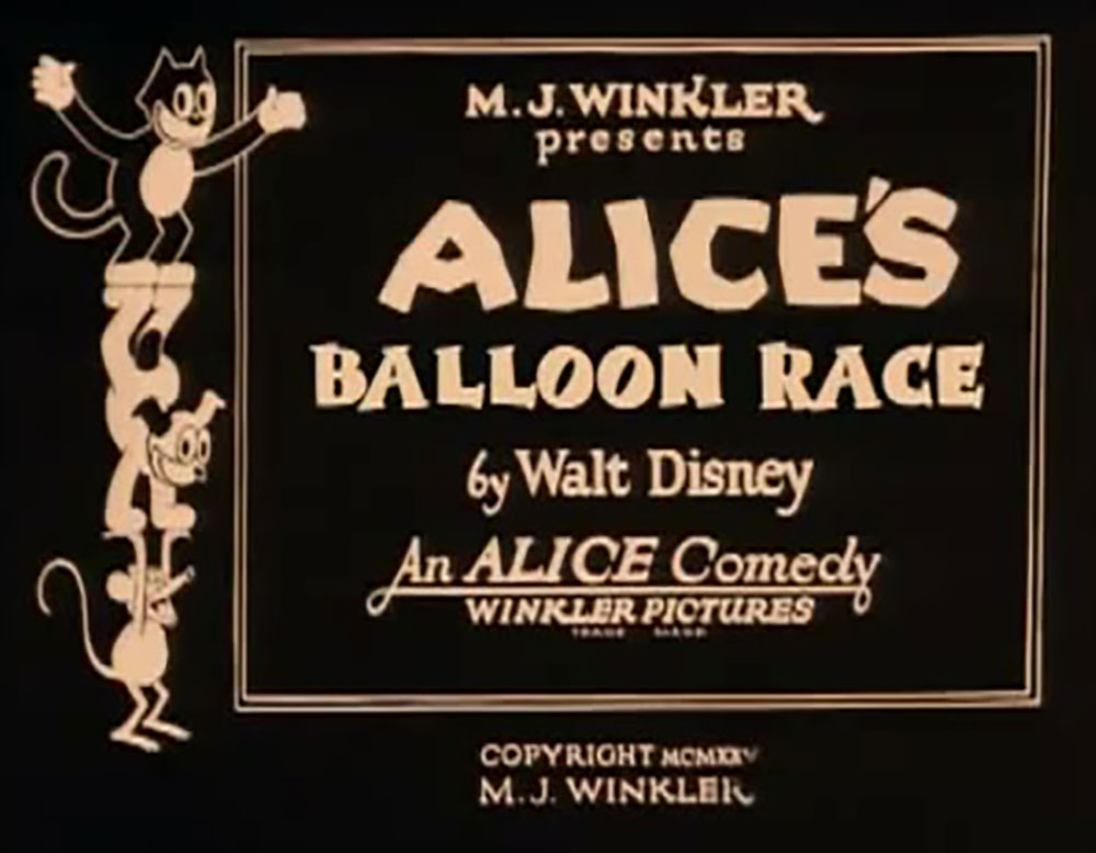 affiche poster alice balloon race disney comedies