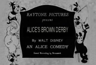 affiche poster alice brown derby disney comedies