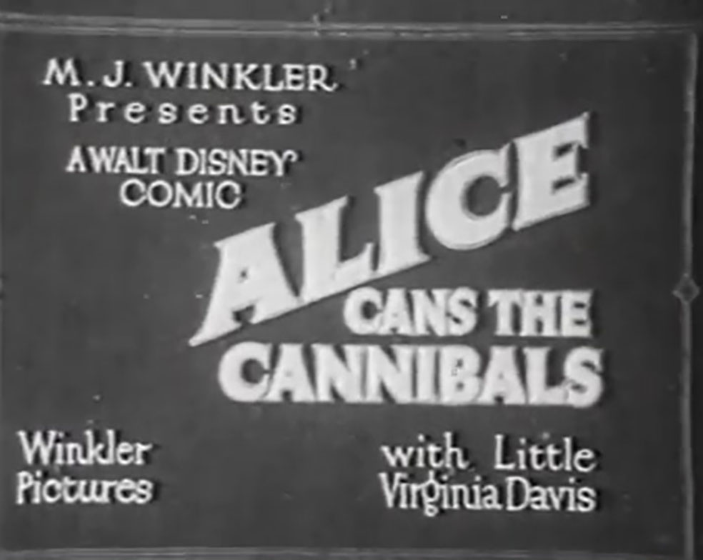affiche poster alice cannibals disney comedies
