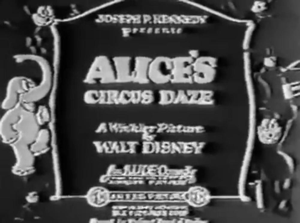 affiche poster alice circus daze disney comedies