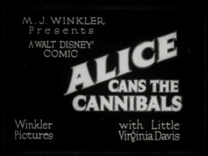 affiche alice comedies alice cans the cannibals walt disney animation studios poster
