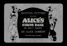 affiche alice comedies alice circus daze walt disney animation studios poster