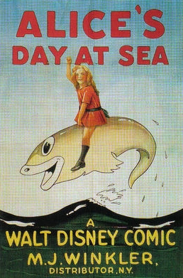 affiche alice comedies alice day at sea walt disney animation studios poster