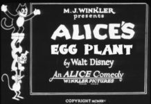 affiche alice comedies alice egg plants walt disney animation studios poster