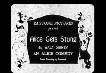 affiche alice comedies alice gets stungs walt disney animation studios poster