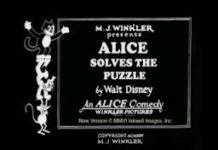 affiche alice comedies alice solves the puzzles walt disney animation studios poster