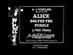 affiche alice comedies alice solves the puzzles walt disney animation studios poster