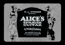 affiche alice comedies alice spanish guitar walt disney animation studios poster