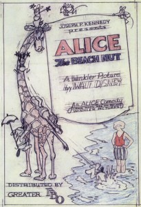 affiche alice comedies alice the beach nut walt disney animation studios poster