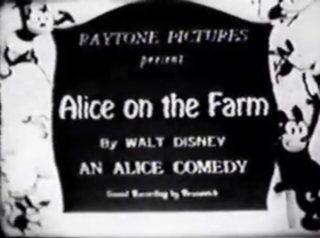 affiche poster alice farm comedies disney