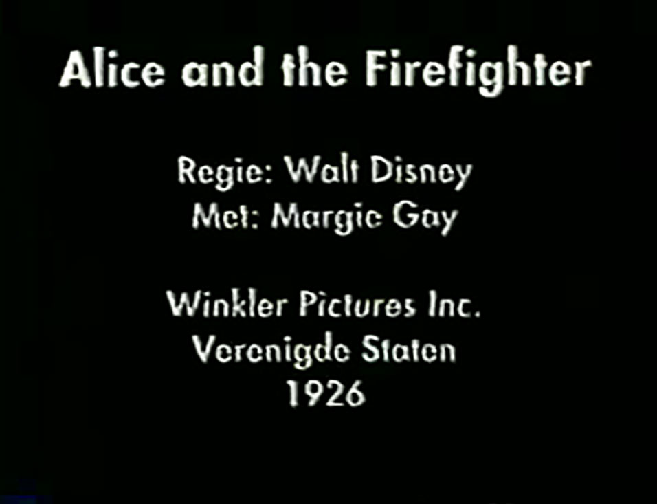 affiche poster alice fire fighter disney comedies