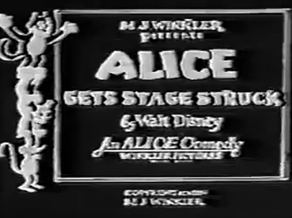 affiche poster alice gets stage struck disney comedies