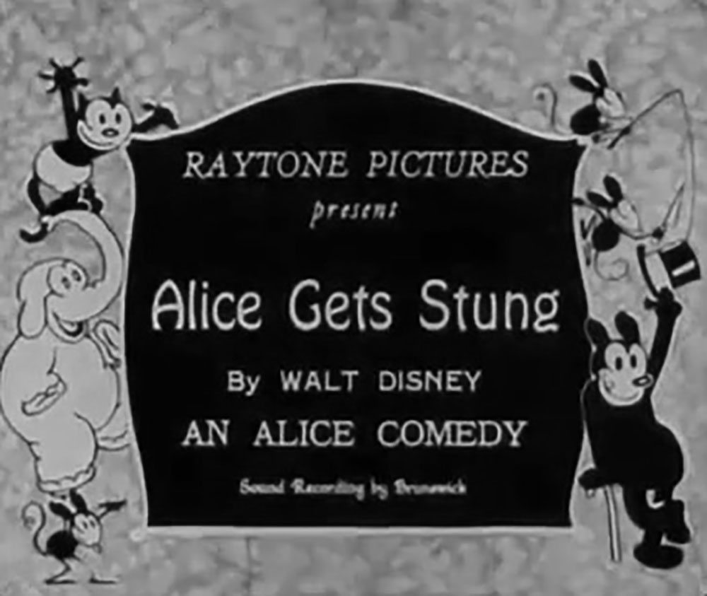 affiche poster alice comedies gets stung disney