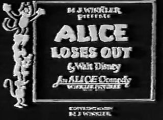 affiche poster alice loses out disney comedies
