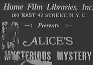 affiche poster alice mysterious mystery disney comedies